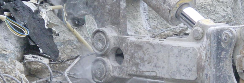Pinces démolitions béton